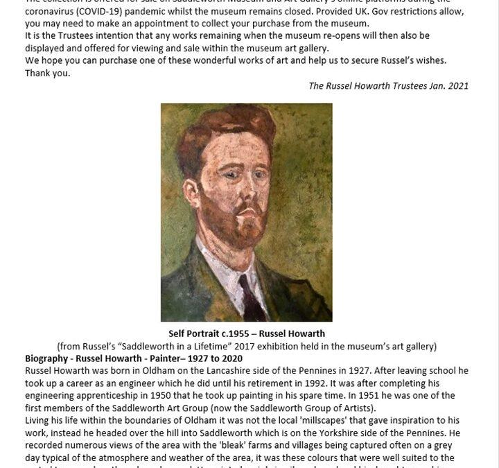 """Saddleworth Museum launches """"Art Online"""""""